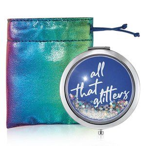 All That Glitters Compact Mirror
